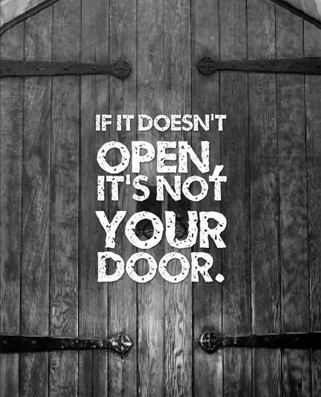 Stop Knocking and Find the Right Door!