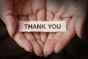 A Heartfelt thank you!