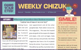 Weekly newsletter #22 - Bereishis 5781