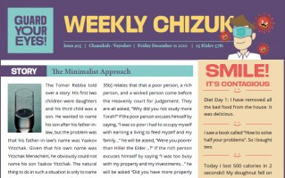 Weekly newsletter #25 - Vayeshev - Chanukah